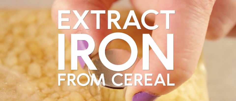 How to get iron from cereal