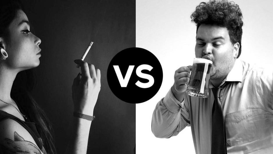 Head to head: UK smokers vs UK drinkers