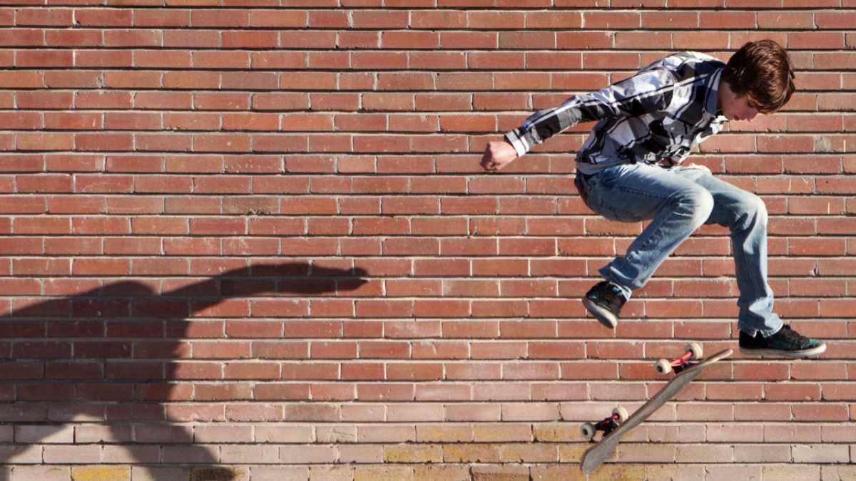 If I jump backwards off a skateboard am I still travelling forwards? © iStock