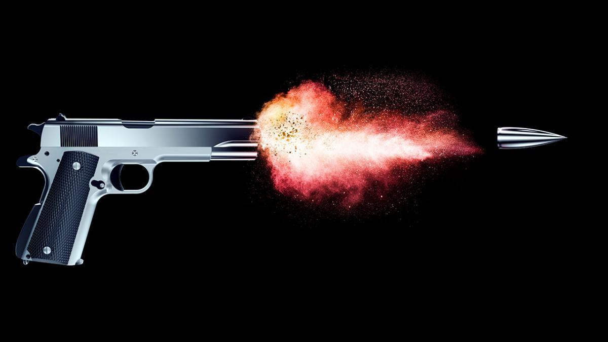 How far can a bullet fired from a handgun travel? © iStock