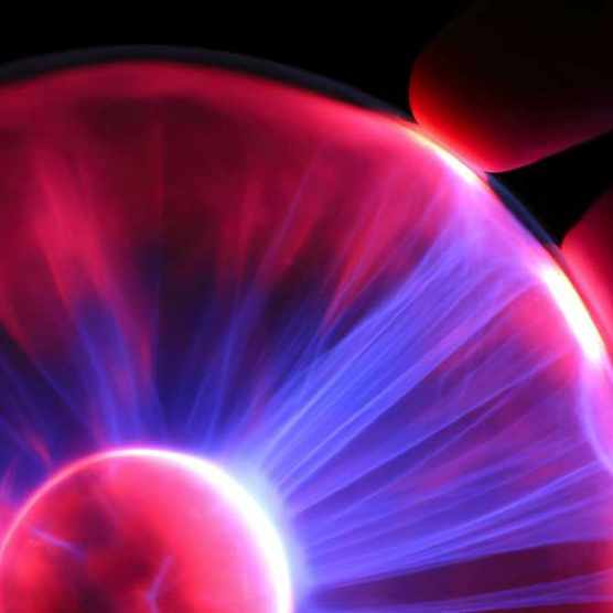 Why do plasma ball light beams move outwards? © iStock