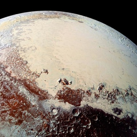 High resolution image of Sputnik Planitia captured by the New Horizons spacecraft. NASA/Johns Hopkins University Applied Physics Laboratory/Southwest Research Institute