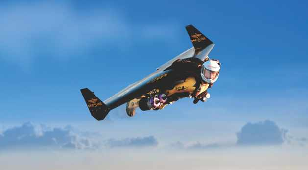 Yves Rossy has used his powered wing to fly alongside famous aircraft like a B-17 and Spitfires (image: Breitling)