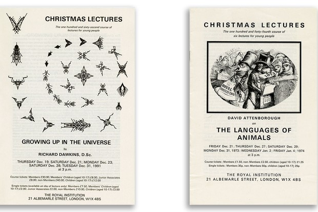 Royal Institution Christmas Lecture pamphlets © Ri