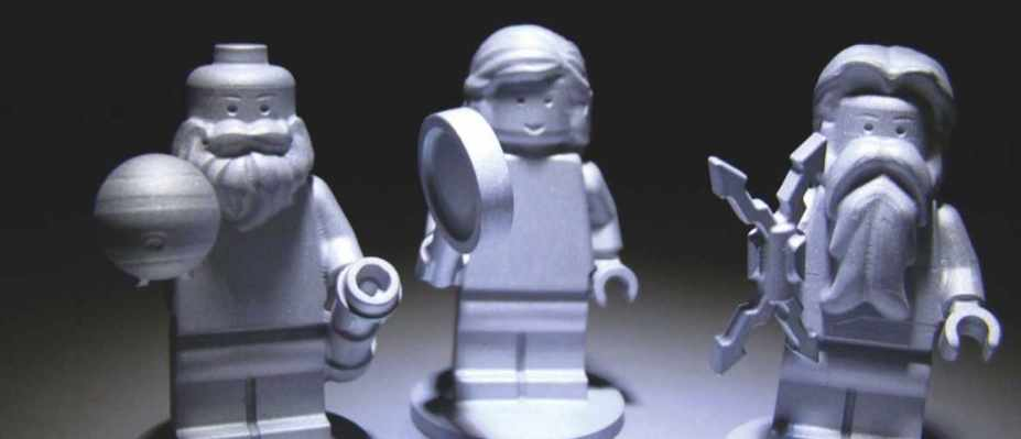 From left to right: Galileo, Juno (Roman goddess) and Jupiter (Roman god) are embodied in Lego on the Juno spacecraft