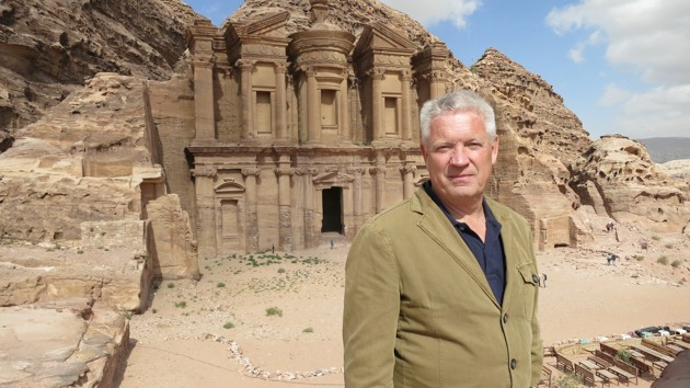 Steve Burrows at the iconic city of Petra