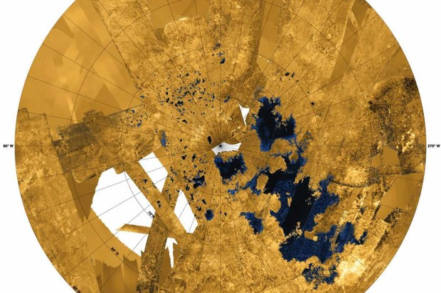 Titan's topography © NASA