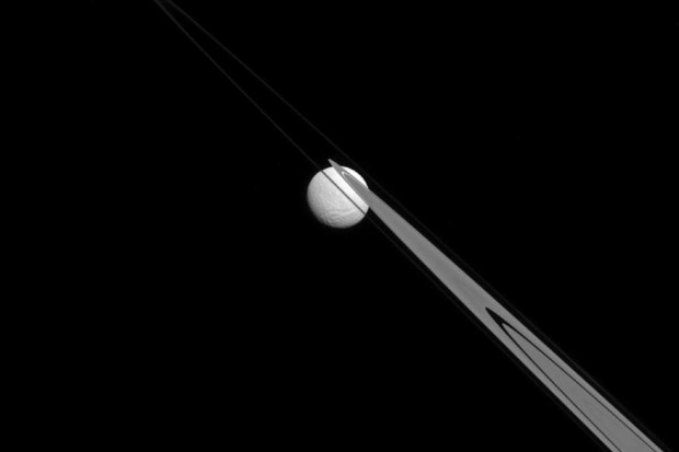 Saturn moon Tethys © NASA