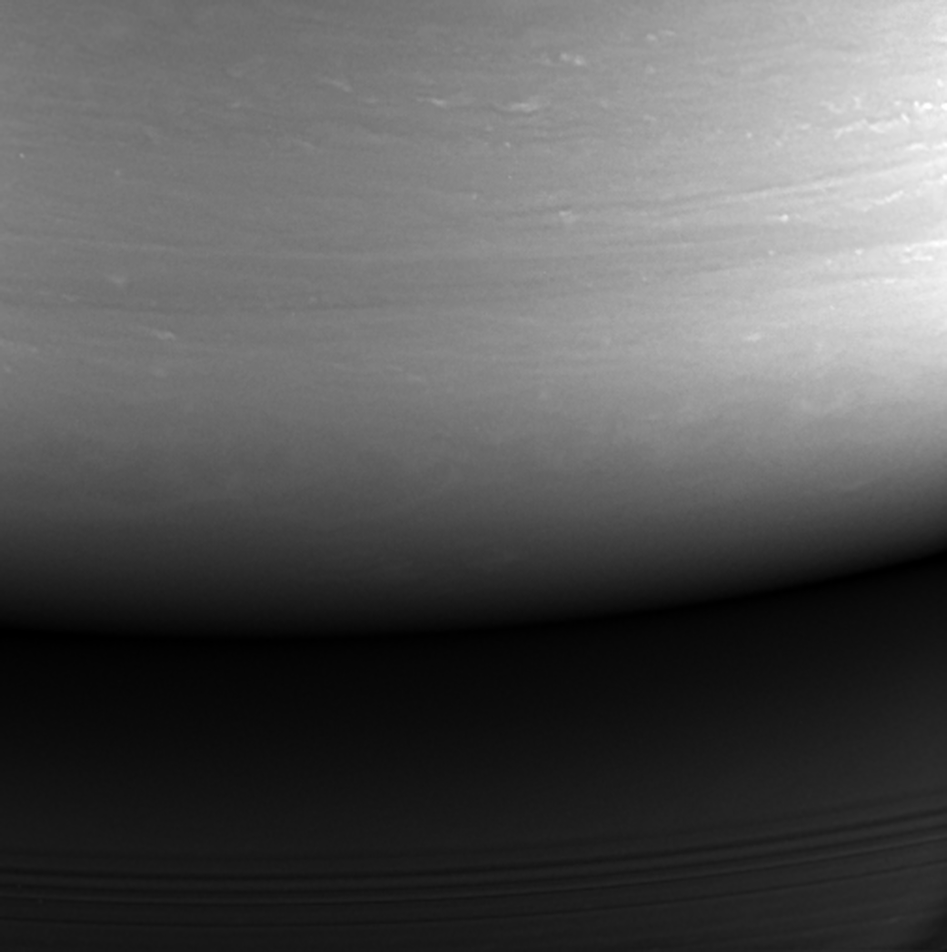Impact Site: Cassini's Final Image © NASA