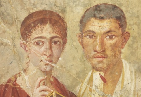 A wall painting of the baker Terentius Neo and his wife from Pompeii (credit: British Museum)