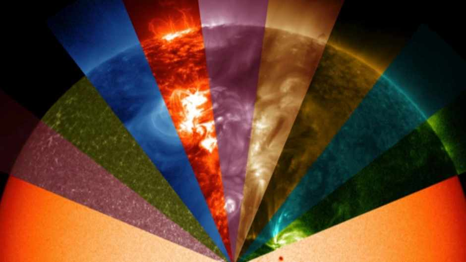 How much of the electromagnetic spectrum does the Sun emit? © NASA/SDO