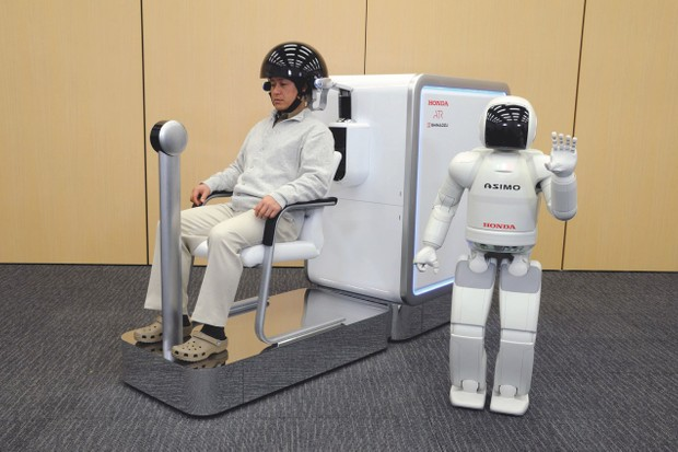 Back in 2009, the Honda Research Institute demonstrated a helmet that allowed a user to control an ASIMO robot by thought alone. Yes, it looked a little clunky, but it represented a ginormous leap forwards in technology © Shutterstock