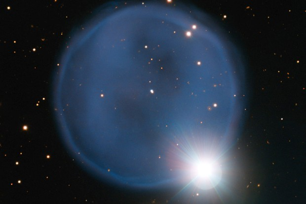 A diamond ring... in space! © ESO