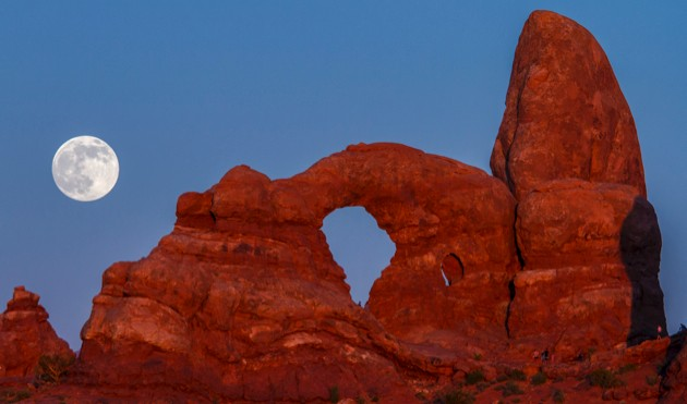 This supermoon was snapped over Utah's Arches National Park in June 2013 (image credit: Jacob W. Frank)