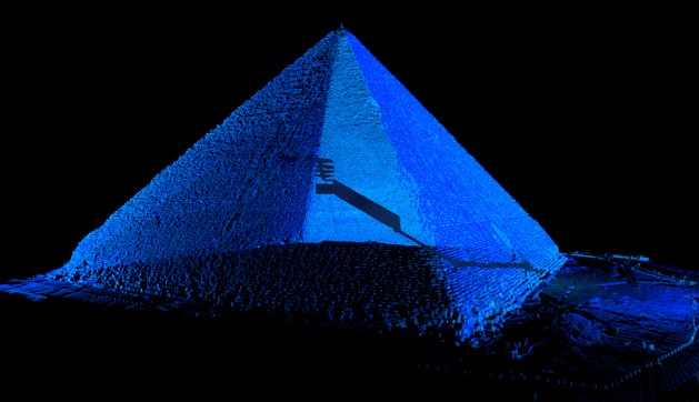Three-dimensional laser scanning has revealed why the Great Pyramid of Giza is still standing today