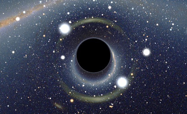 An artist's impression of a black hole. Could it give birth to another Universe? (Image credit: Alain R)