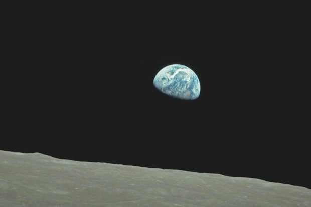 Taken on Christmas Eve by the crew of Apollo 8, Earthrise was the first time a human had seen Earth rise from behind the horizon of the Moon.