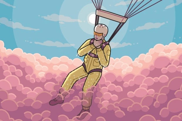 Could I survive a parachute jump through a thundercloud? - After pulling the ripcord