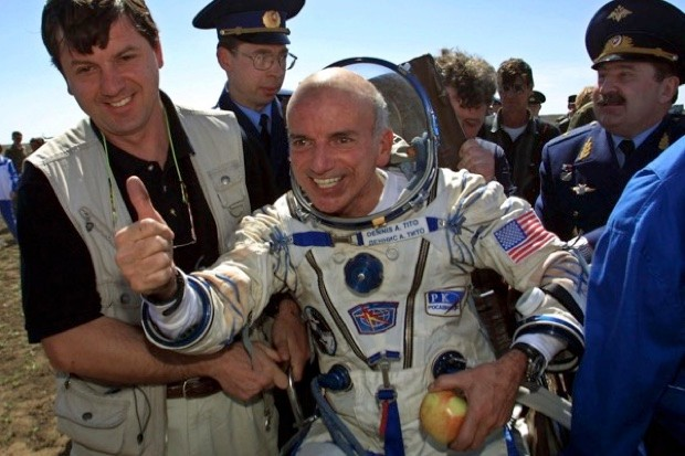 In 2001 US entrepreneur Dennis Tito became the first space tourist when he caught a rocket to the International Space Station – a bargain at only $20m! © Alexander Nemenov/AFP/Getty Images