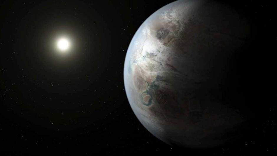 Artist's concept of Kepler-452b (NASA/JPL-Caltech/T. Pyle)