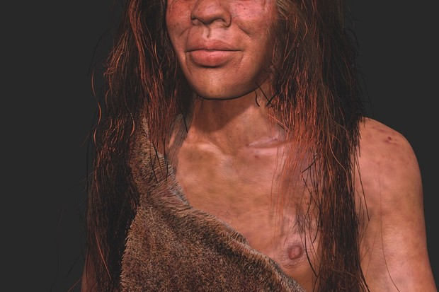 A reconstruction of what Denny may have looked like when she was alive © SPL