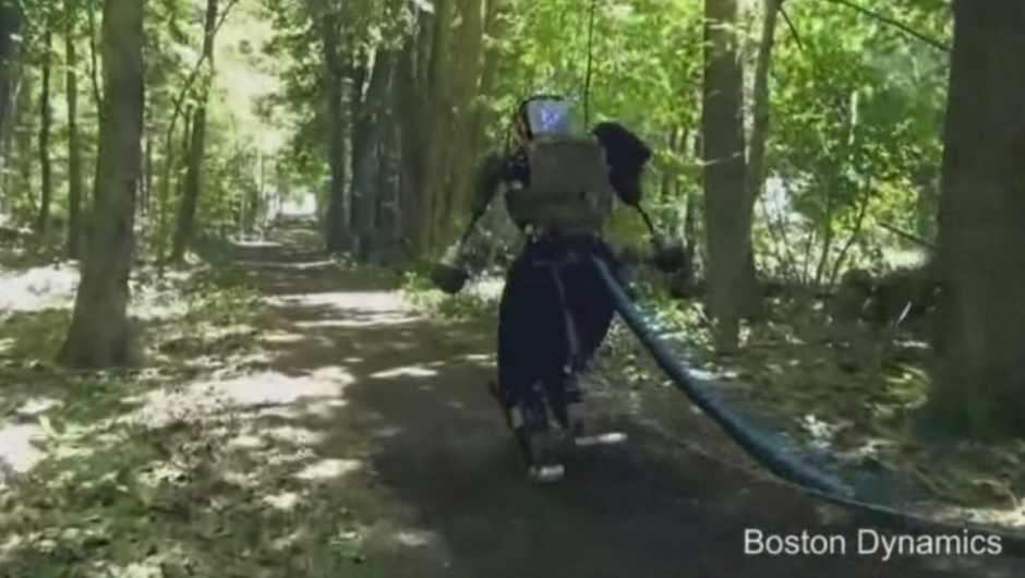 Boston Dynamics' latest Atlas robot seen in the wild © Boston Dynamics