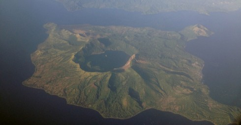 An aerial shot of Ta'al Volcano (credit: Mike Gonzalez)