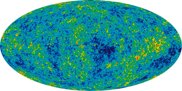 An all-sky map of the cosmic microwave background (image credit: NASA / WMAP Science Team)