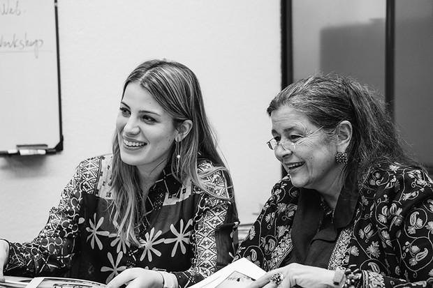 Julieta Villegas (left) and Nathalie Charpak at the Fundación Canguro – the Kangaroo Foundation – in Bogotá, Colombia. © Juliana Gómez