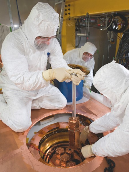 The Cryogenic Dark Matter Search in Minnesota (image credit: Fermilab)