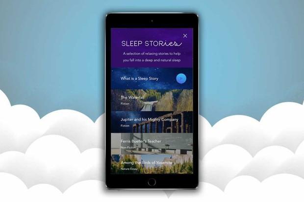 Calm meditation app Sleep Stories