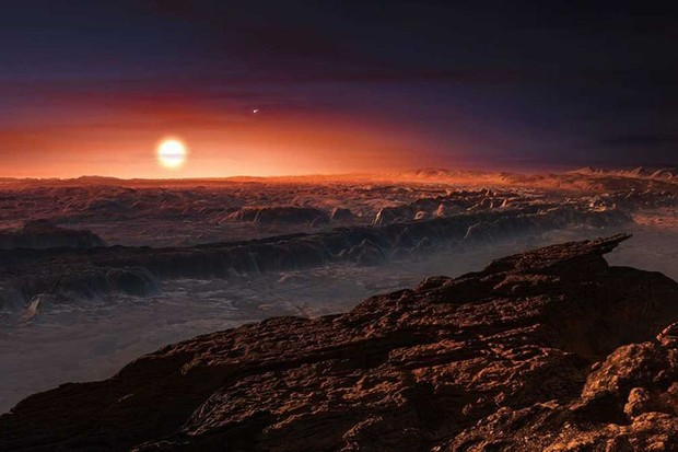 This artist's impression of the surface of the planet Proxima b © ESO/M. Kornmesser
