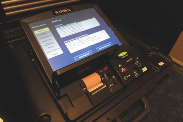 The WinVote electronic voting machines used in American elections have been shown to be vulnerable to hacking