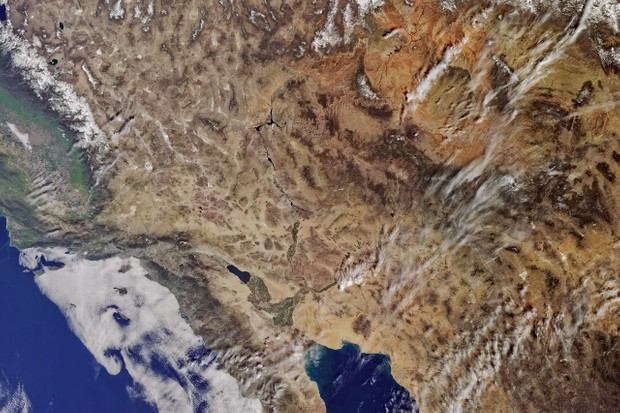 California from Sentinel-3A © Copernicus data (2016)
