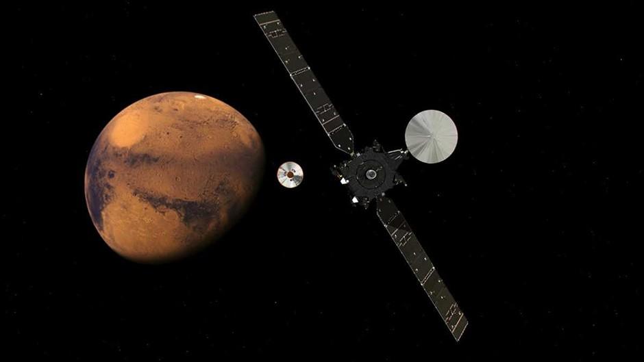 ExoMars 2016 approaching Mars © ESA/ATG medialab
