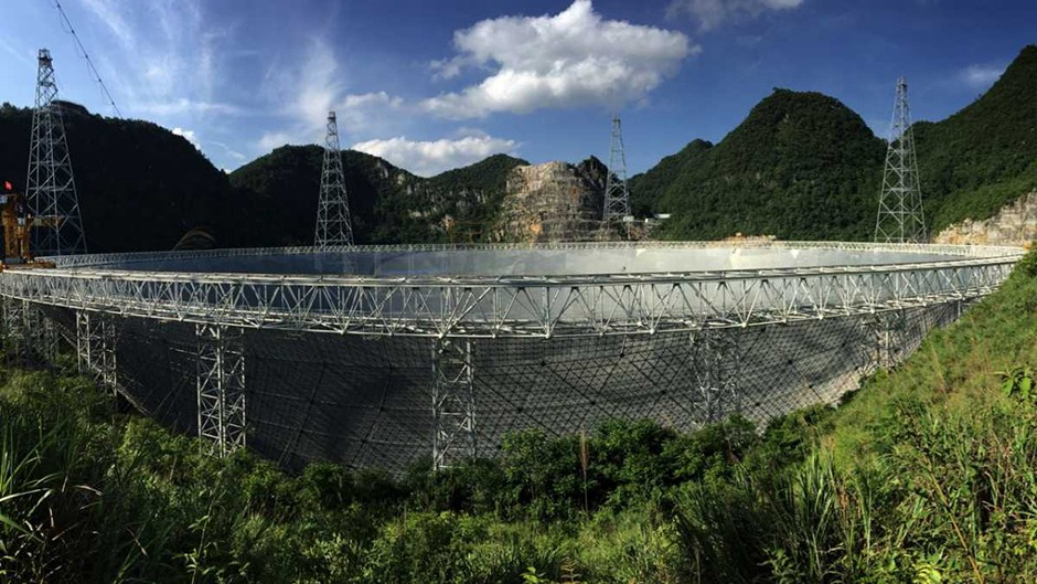 The Five-hundred-meter Aperture Spherical Telescope (FAST) © Chinese Academy of Sciences