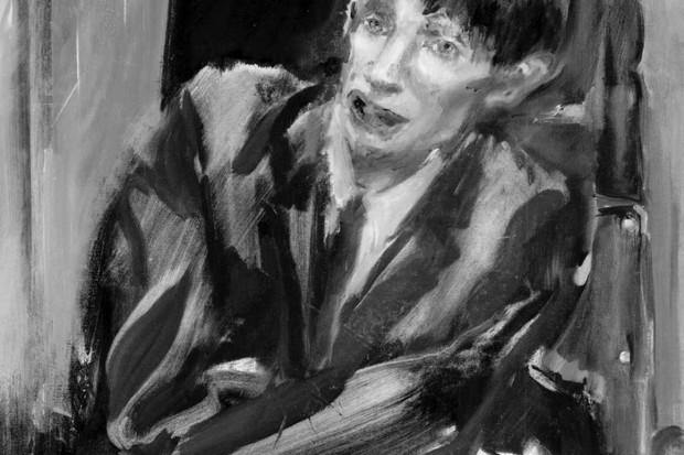 Oil sketch by Yolanda Sonnabend for a portrait in the National Portrait Gallery, London. Stephen Hawking © Science Museum/SSPL/Getty Images