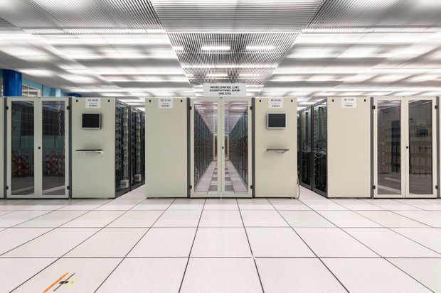 The worldwide LHC computing grid servers, part of the CERN LHC experiment in Geneva, Switzerland © Harold Cunningham/Getty Images