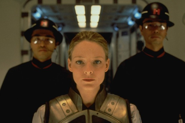 Jodie Foster as the astronomer Dr Ellie Arroway in Contact (1997) © Francois Duhamel/Sygma © Getty Images