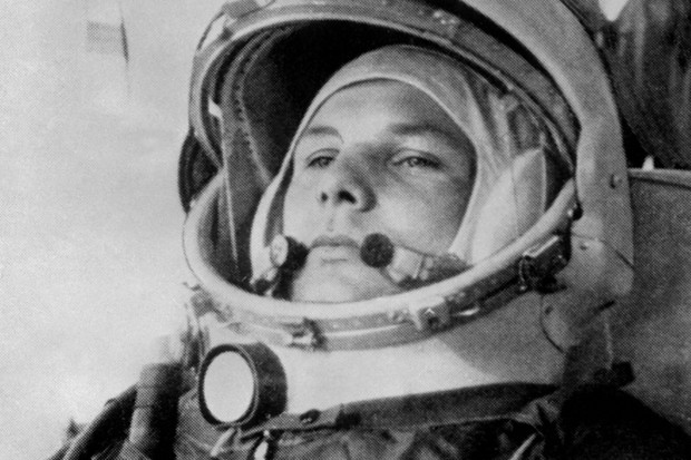 Yuri Gagarin, age 27, before boarding a Soviet Vostok I spaceship (© AFP/Getty Images)