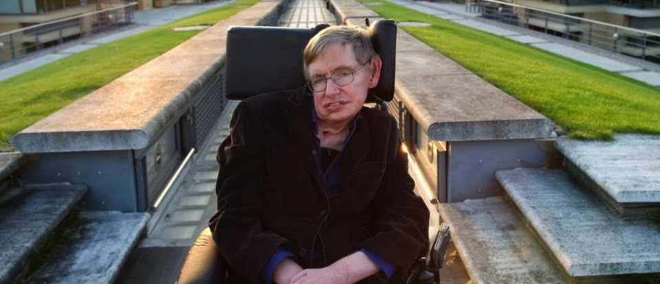 Professor Stephen Hawking, British theoretical physicist. Photographed at the Centre for Mathematical Sciences, University of Cambridge © Eleanor Bentall/Corbis via Getty Images