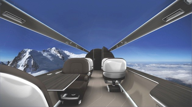 The cabin of the Ixion is lined with display screens to offer passengers unique surroundings © Technicon