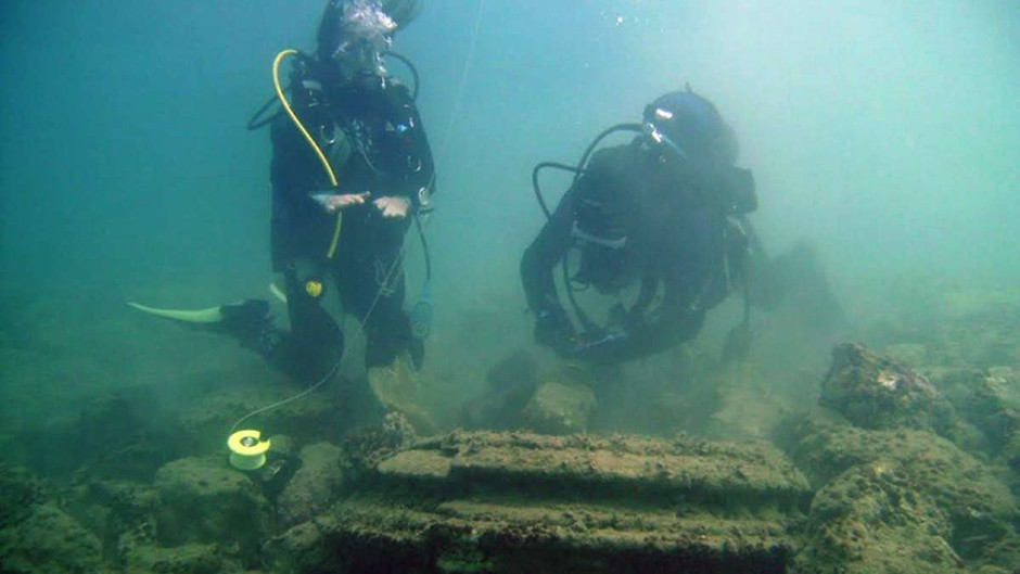 Ancient Greek underwater 'city' formed naturally © University of Athens