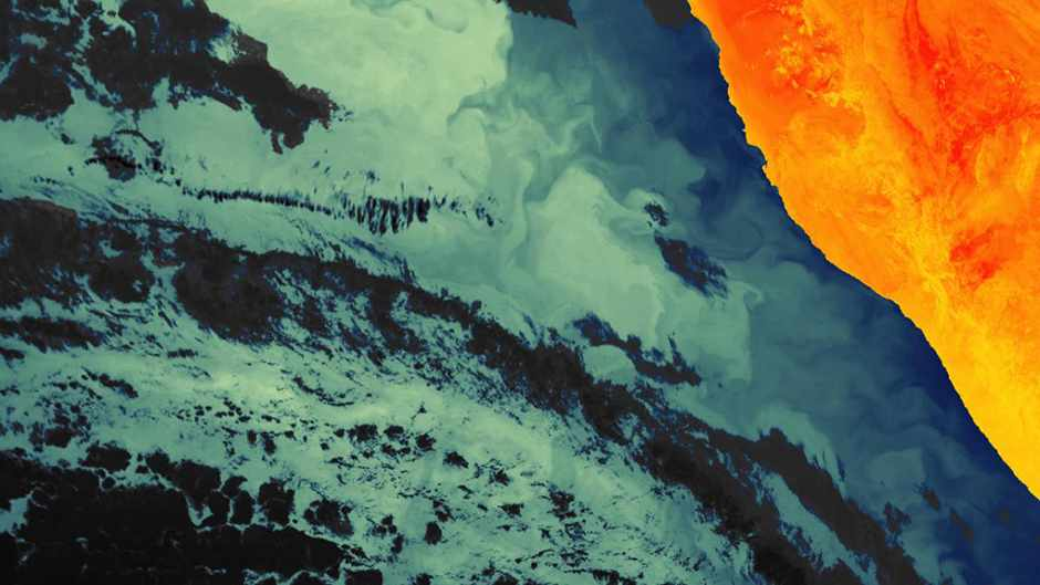 Sentinel-3A's first infrared picture is a masterpiece © ESA