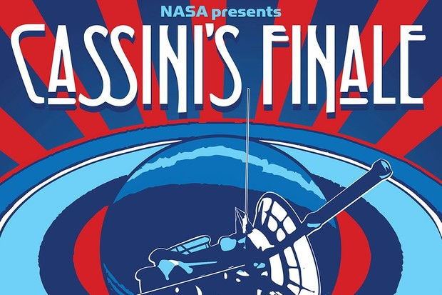 Retro poster designed to celebrate Cassini's Grand Finale after almost 20 years in space. © NASA/Jet Propulsion Laboratory-Caltech