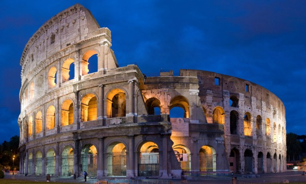 Completed in 80AD, the Colosseum could hold more than 50,000 spectators (photo by David Iliff. License: CC-BY-SA 3.0)