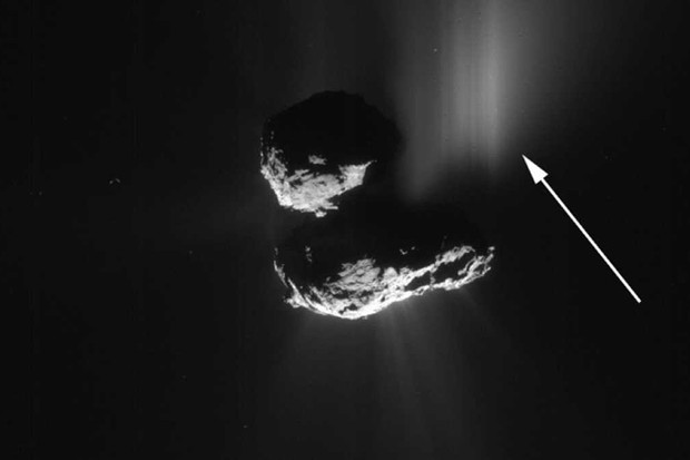 This comet 67P outburst was caused by a cliff collapse © ESA/Rosetta/NavCam