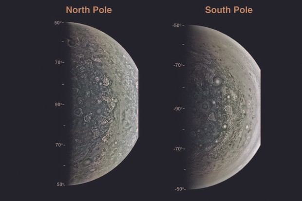 Jupiter's poles © J.E.P. Connerney et al., Science (2017)