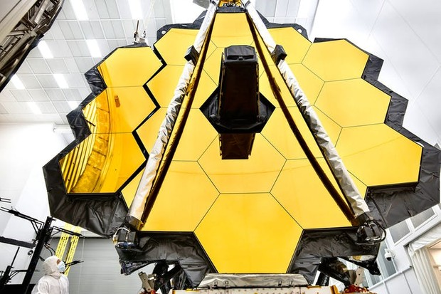 The JWST is currently being readied for launch. NASA/Chris Gunn