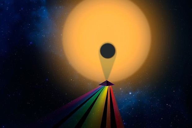 The spectrum of starlight passing through a planet's atmosphere can tell us what the atmosphere is made of © Christine Daniloff/MIT, Julien de Wit